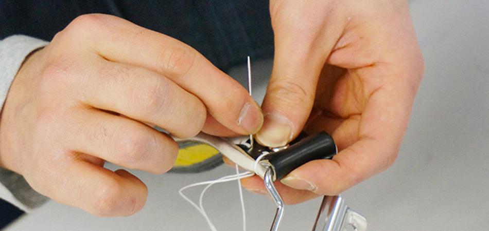 6年間、君とランドセルをしっかり繋ぐ要所手縫い!