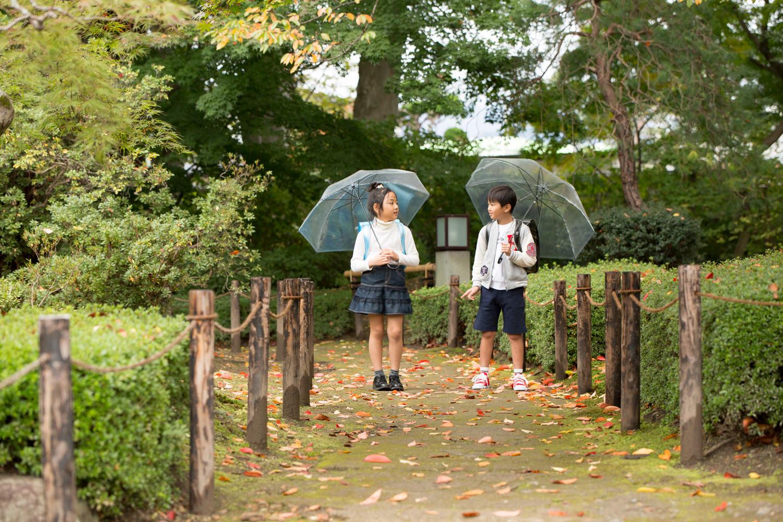 この日はしとしとと雨が降ってきました。